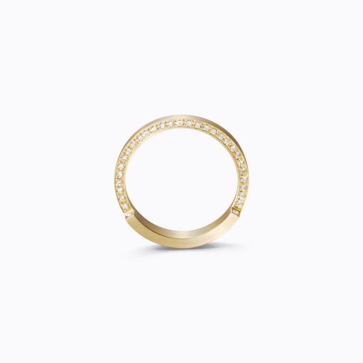 Assemble Ring 04, yellow gold, matte finish