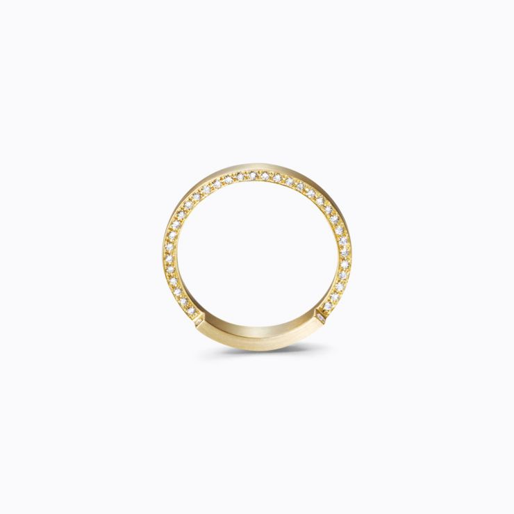 Assemble Ring 05, yellow gold, matte finish