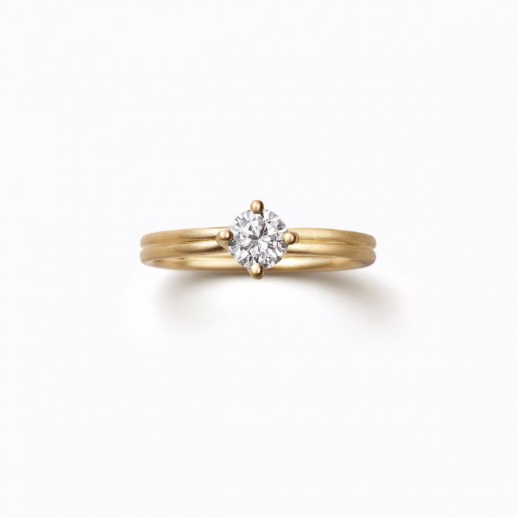 Cross Ring 01 (VS), yellow gold, matte finish