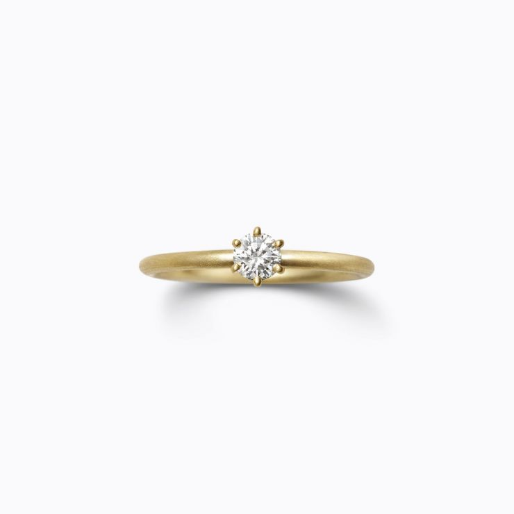 Classic Ring 02 (VS), yellow gold