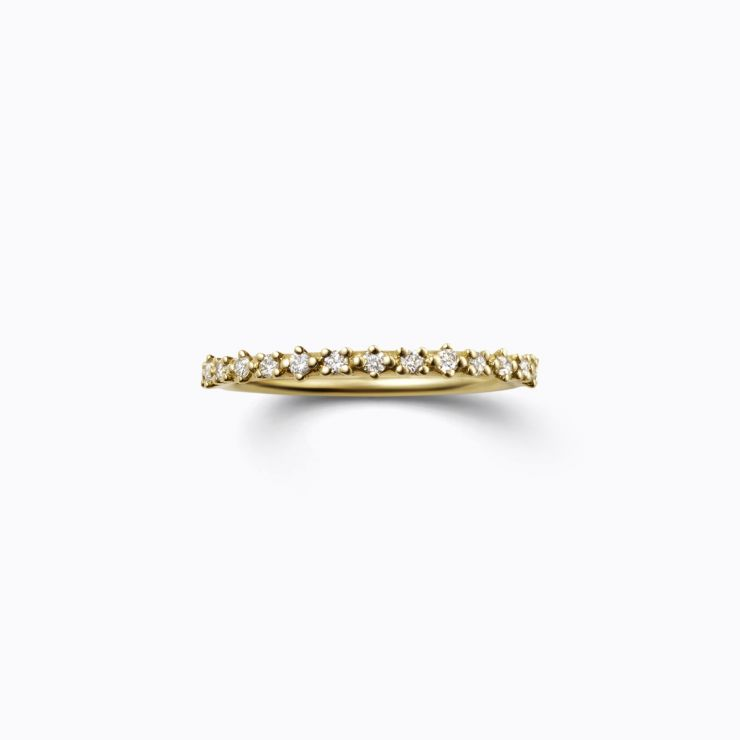 Half Eternity Ring 01, yellow gold, matte finish