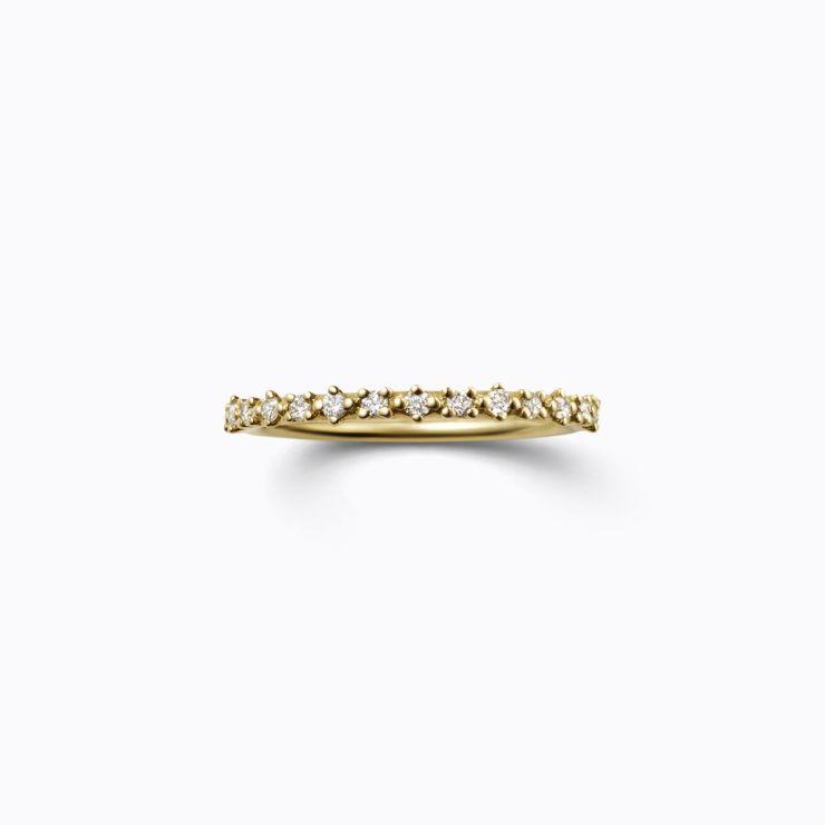 Half Eternity Ring 01, yellow gold, matte finish