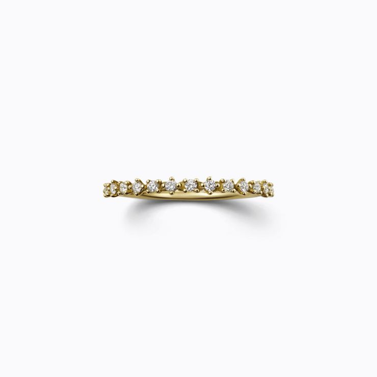 Half Eternity Ring 02, yellow gold, matte finish