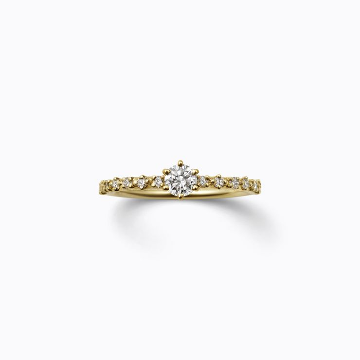 Half Eternity Ring 03 (VS), yellow gold, matte finish