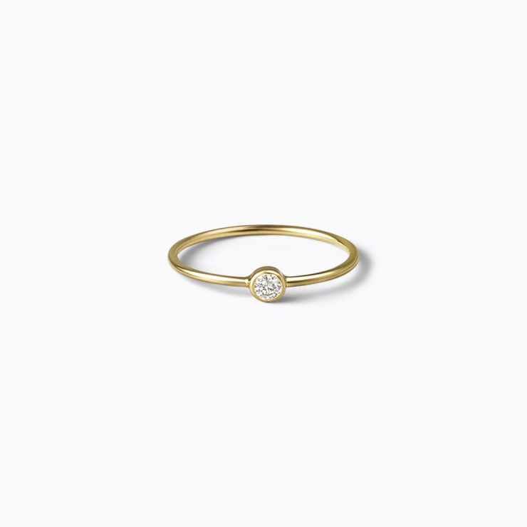 Petite Ring 01, yellow gold, matte finish