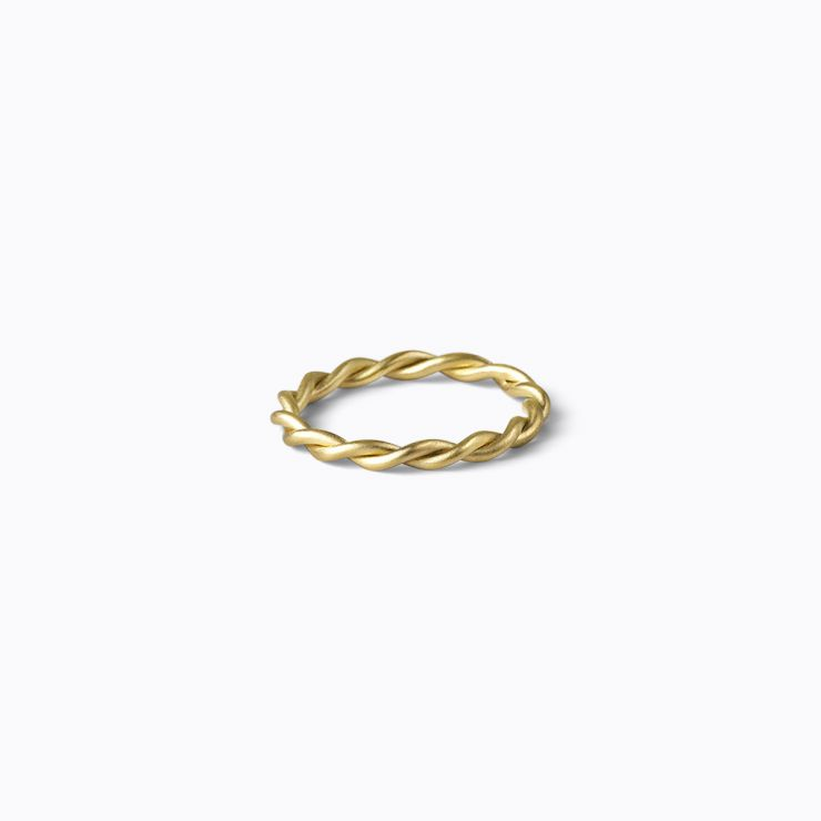 Twist Ring, yellow gold, matte finish