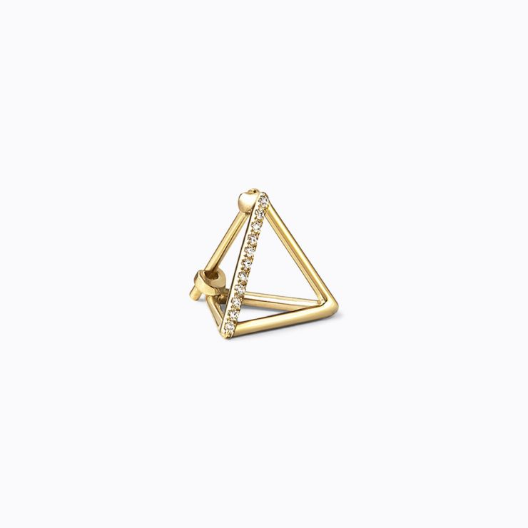 3D Diamond Triangle 10 (01), yellow gold