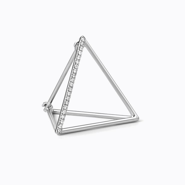 3D Diamond Triangle 20 (01), yellow gold