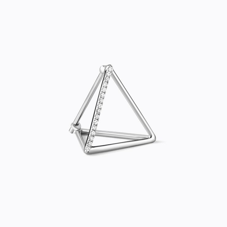 3D Diamond Triangle 15 (01), yellow gold