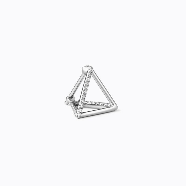 3D Diamond Triangle 10 (02), yellow gold