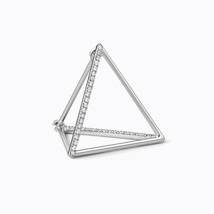 3D Diamond Triangle 20 (02), yellow gold