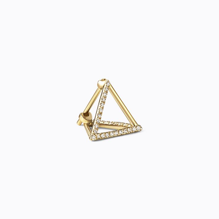 3D Diamond Triangle 10 (03), yellow gold