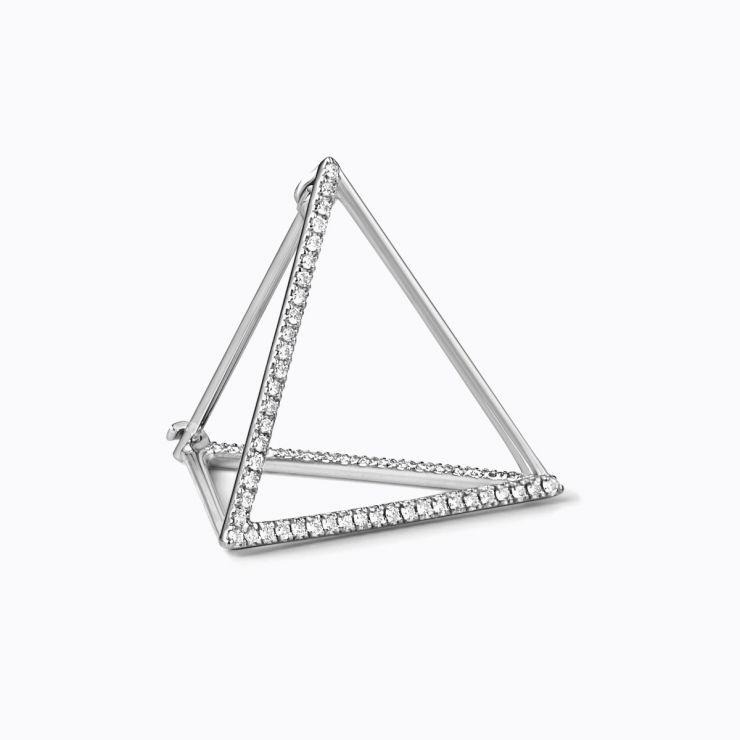 3D Diamond Triangle 20 (03), yellow gold