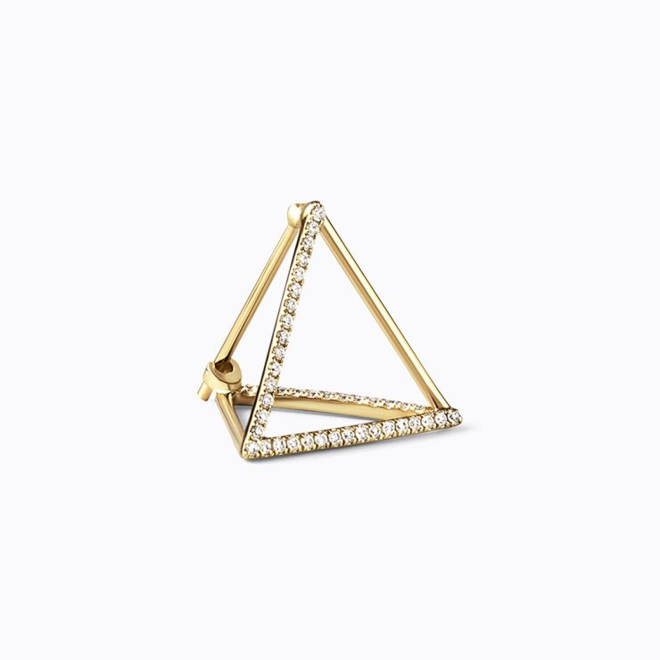 3D Diamond Triangle 15 (03), yellow gold