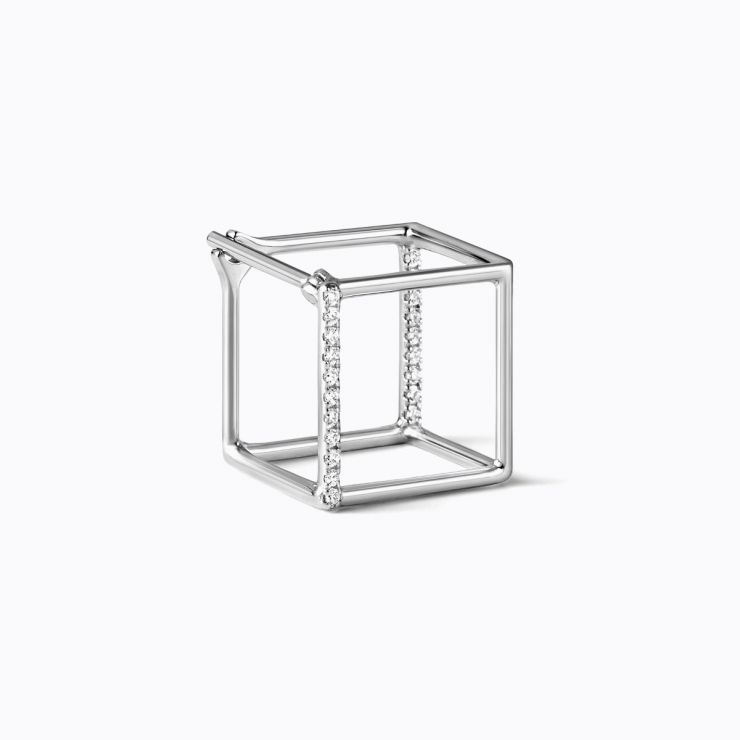 3D Diamond Square 10 (01), white gold