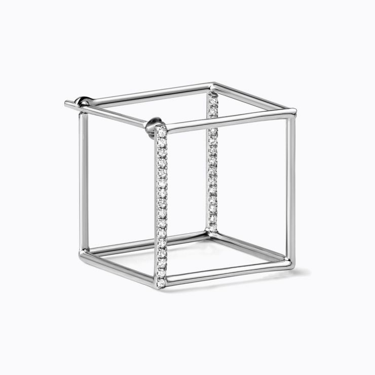 3D Diamond Square 15 (01), white gold