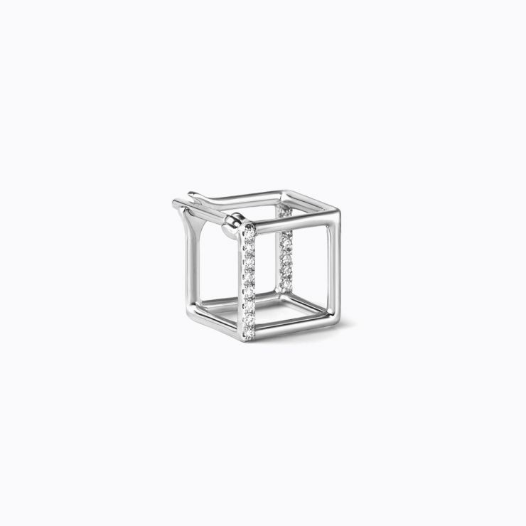 3D Diamond Square 7 (01), white gold
