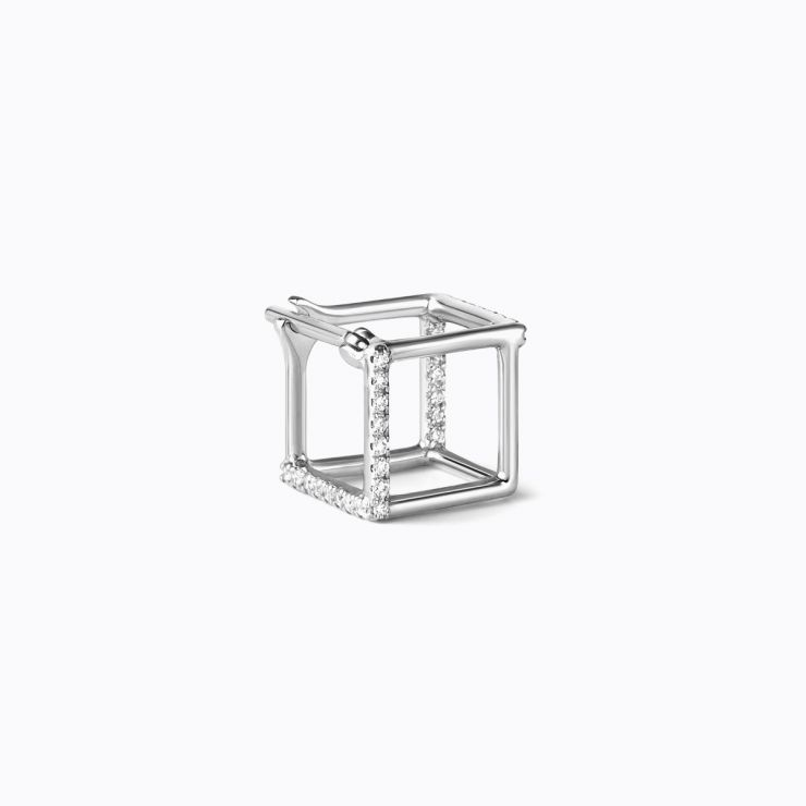 3D Diamond Square 7 (02), white gold
