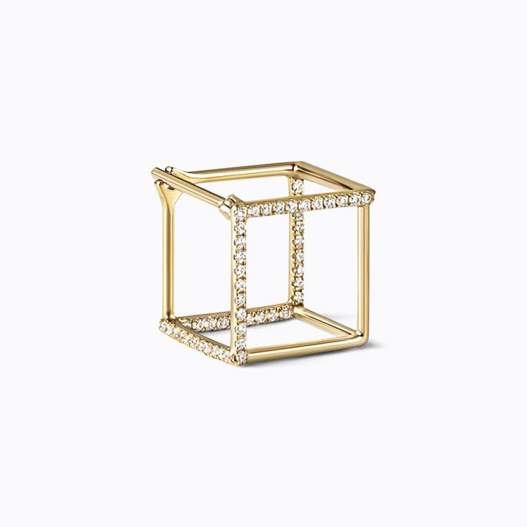 3D Diamond Square 10 (03), white gold