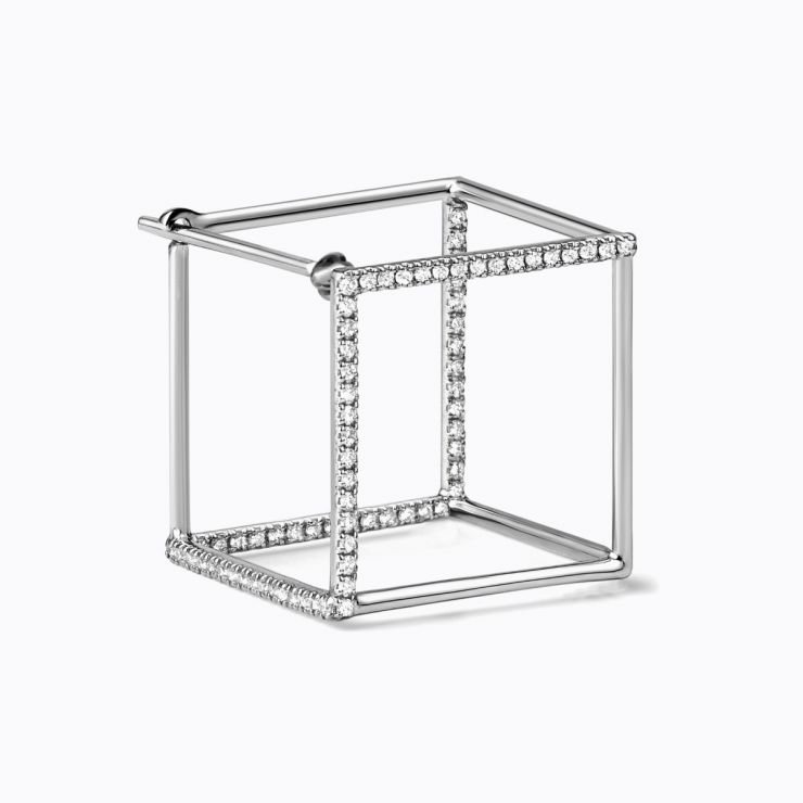 3D Diamond Square 15 (03), white gold