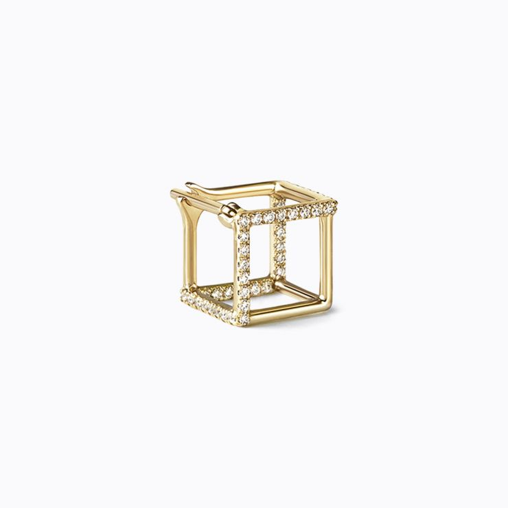 3D Diamond Square 7 (03), white gold