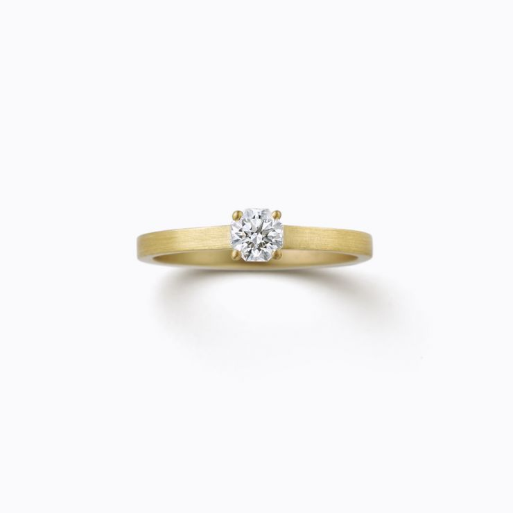 Octagon Ring 02 (VS), yellow gold and diamond