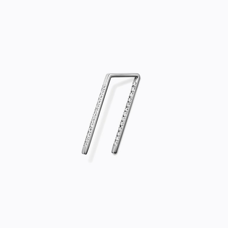 Diamond Post Pierce 0202, white gold